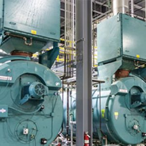 steam boiler in dairy processing plant