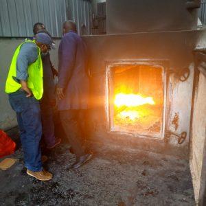 Boiler incinerator firing